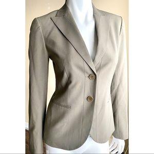 Theory Single Breasted Wool Blazer Gray Sz 4